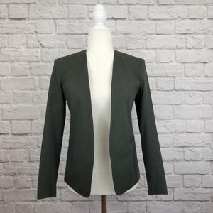 Theory Tadean gray open front form fitting blazer